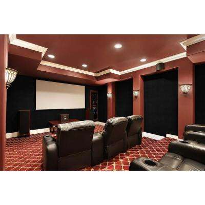 QuietWall 108 sq. ft. Charcoal Acoustical Noise Control Textile Wall Covering and Home Theater Acoustic Sound Proofing