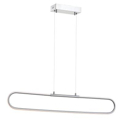 Ned 39 in. Dimmable Adjustable Integrated LED Chrome Metal Linear Pendant