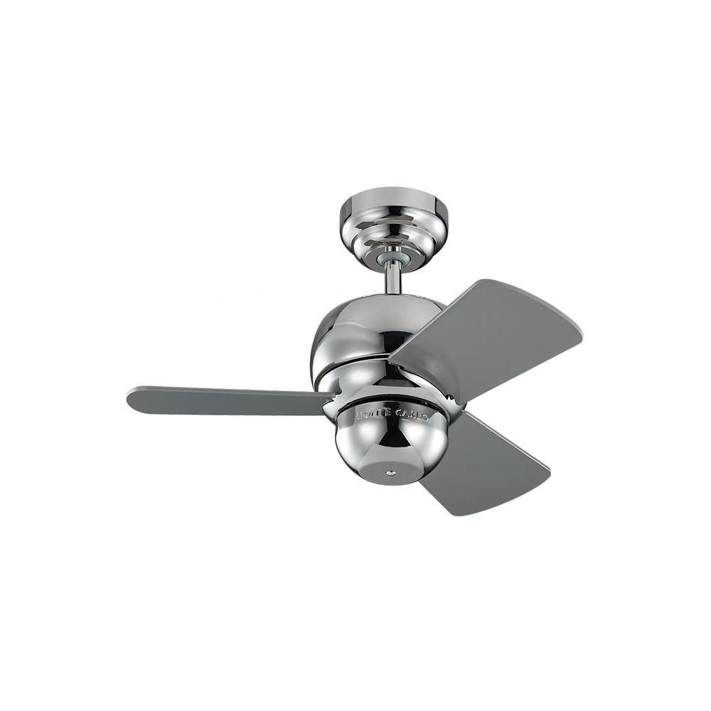 Monte Carlo Micro 24 in. Polished Nickel Ceiling Fan