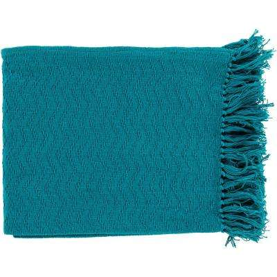 Stanley Teal Cotton Throw