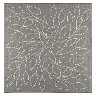 Persimmon Grey/Champagne 8 ft. x 8 ft. Indoor/Outdoor Square Area Rug