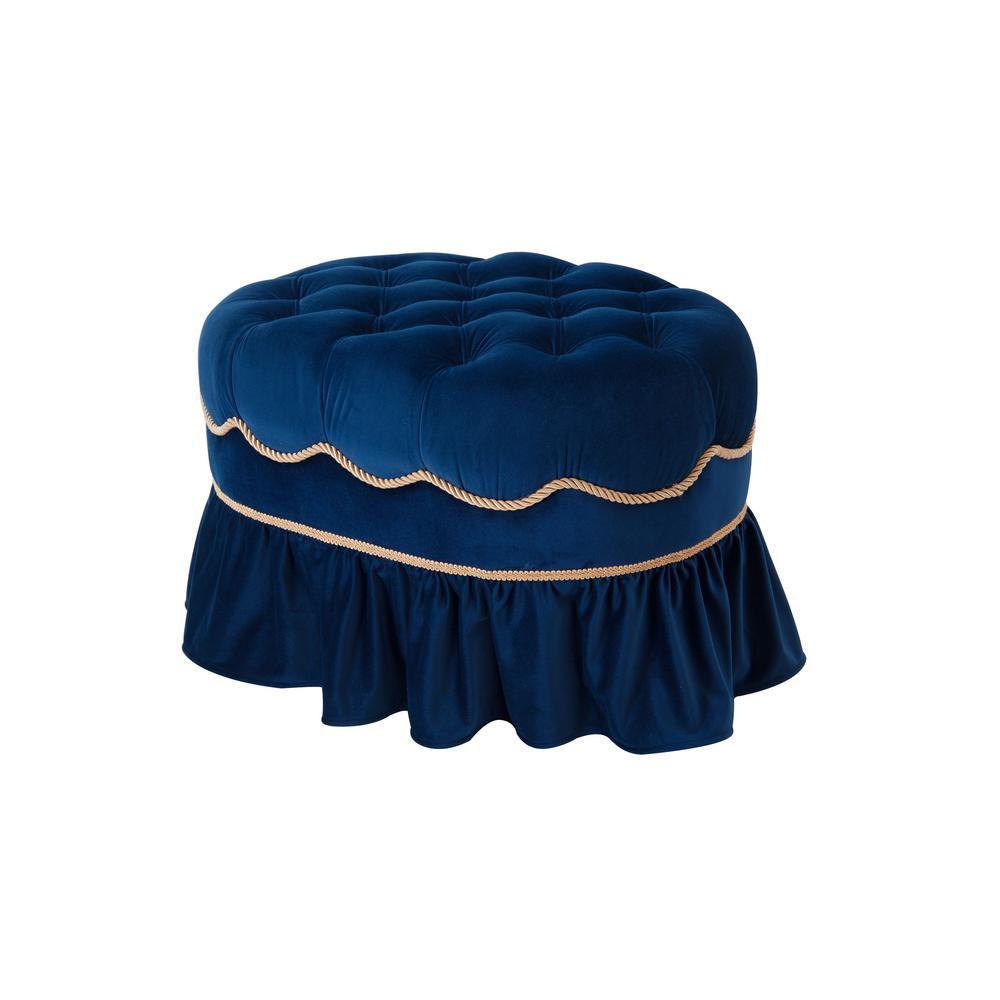 Toby Navy Blue Ottoman