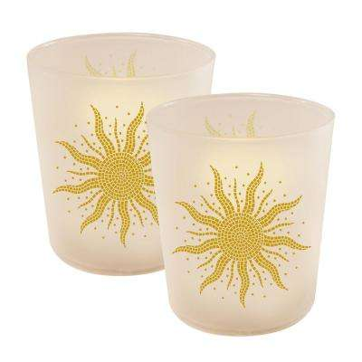 Mosaic Sun Battery Operated LED Candles (2-Count)