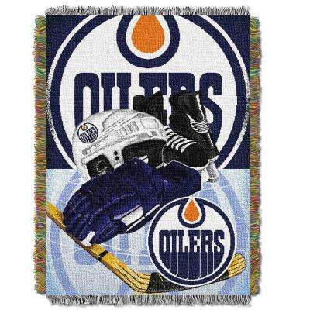Oilers Multi Color HIA Tapestry Throw