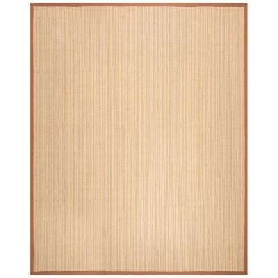 Natural Fiber Multi Light Brown 8 Ft X 10 Area Rug