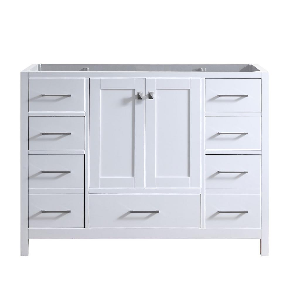 Caroline Madison 48 in. W Bath Vanity Cabinet Only in White