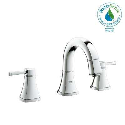 Grandera 8 in. Widespread 2-Handle 1.2 GPM Bathroom Faucet in StarLight Chrome