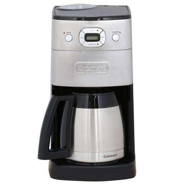 Cuisinart Grind and Brew 10-Cup Brushed Chrome Drip Coffee Maker with