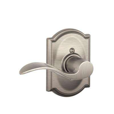 Camelot Collection Accent Satin Nickel Left-Hand Dummy Lever