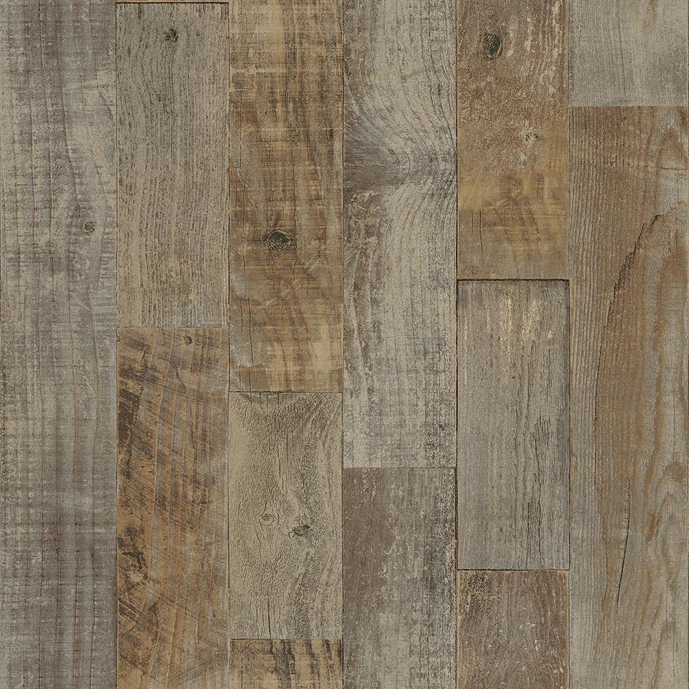 Chesapeake 56.4 sq. ft. Chebacco Brown Wooden Planks Wallpaper 3118-12693