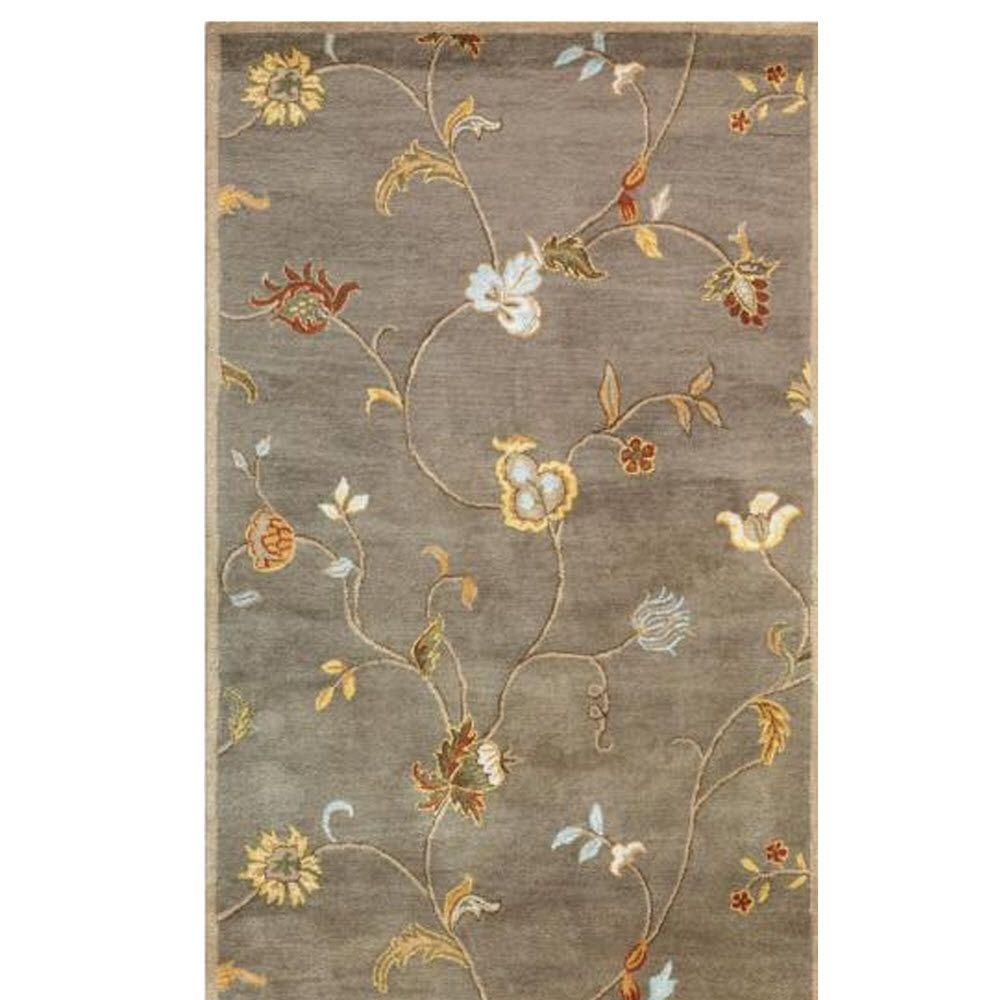 Home Decorators Collection Lenore Gray/Brown 5 ft. 3 in. x 8 ft. 3 in. Area Rug