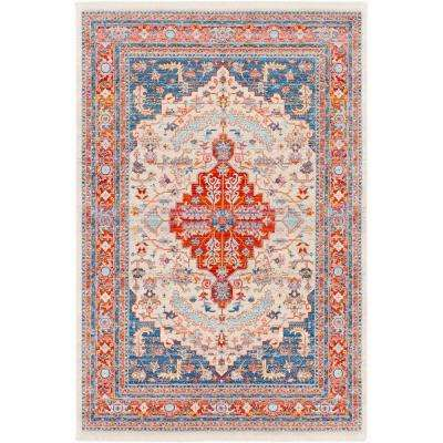 Theia Red/Navy 7 ft. 10 in. x 10 ft. 3 in. Oriental Area Rug