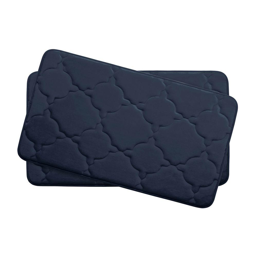 Dorothy Indigo 17 in. x 24 in. Memory Foam 2-Piece Bath