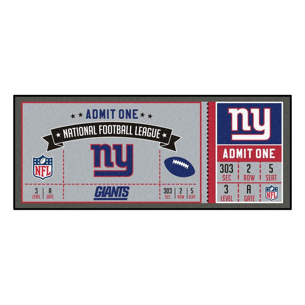 NFL - New York Giants 30 in. x 72 in. Indoor Ticket Runner Rug