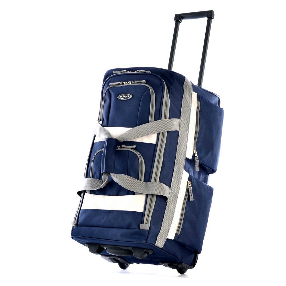 26 in. 8-Pocket Rolling Duffel Bag