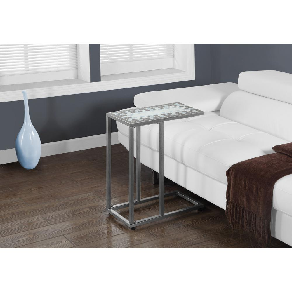 - Grey And Blue Accent Table HD3144 - The Home Depot