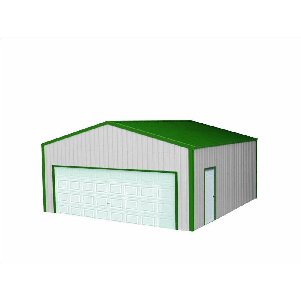Versatube 24 Ft X 24 Ft X 8 Ft Garage Vs2242408416sg The Home Depot