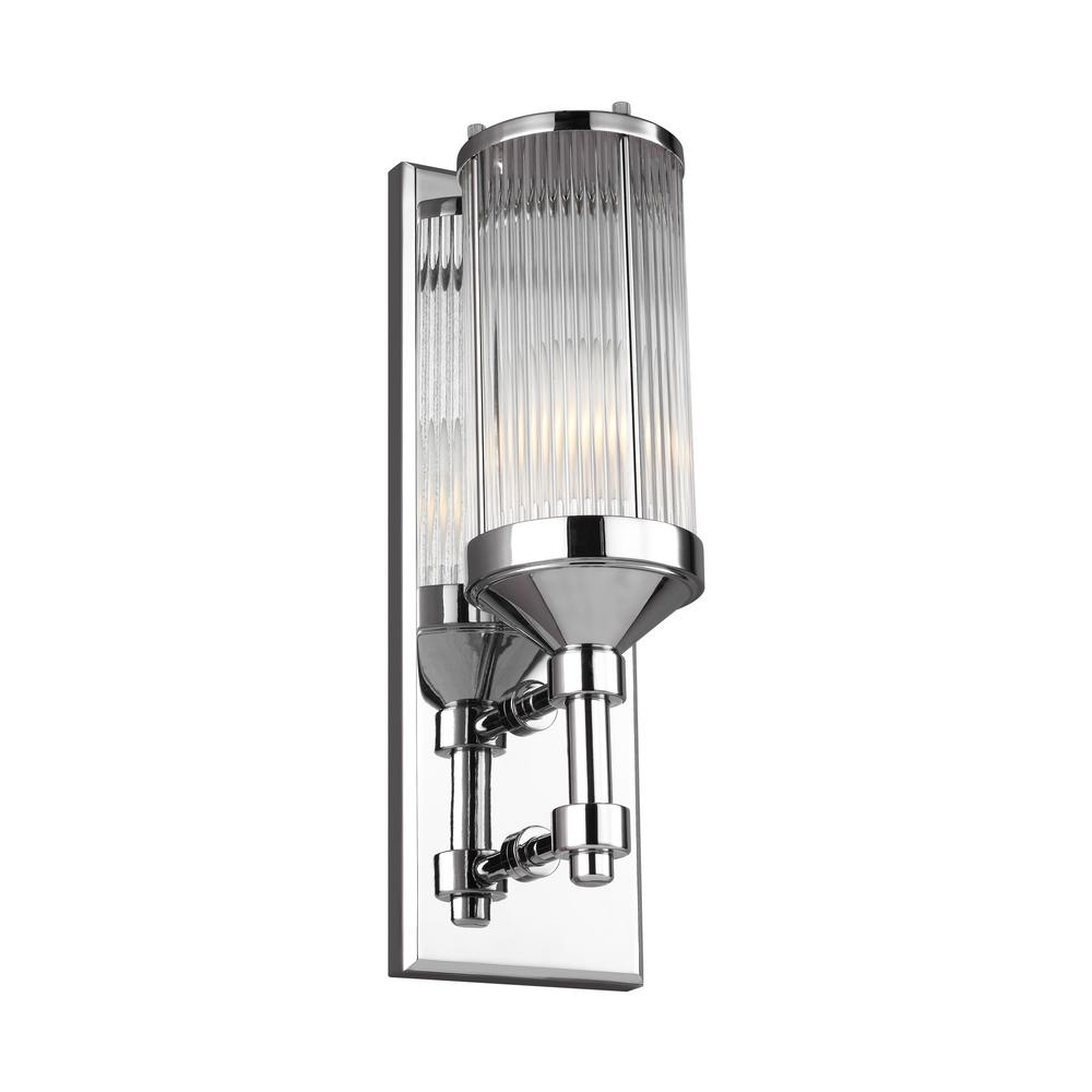 Paulson 4.75 in. W. 1-Light Chrome Wall Sconce