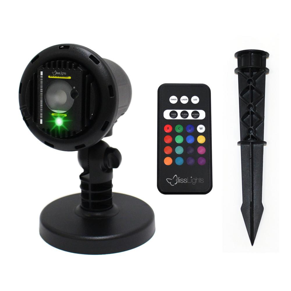 BlissLights Green Laser With Integrated 16-Color LED Flood