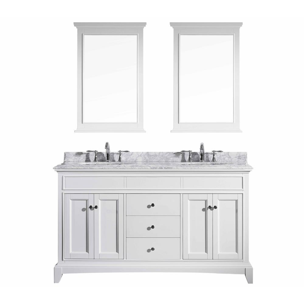 Eviva Stamford Vanity White Marble Top White Basin