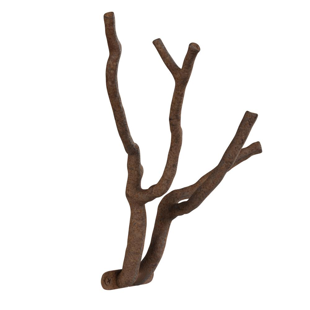 Lavish Home Cast Iron Rustic Decorative Tree Branch Hook