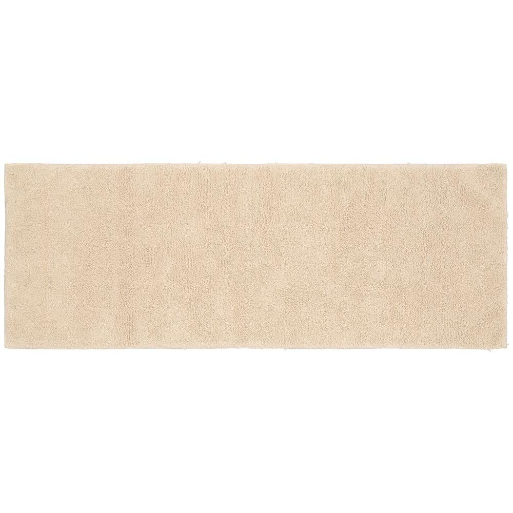 Natural Bathroom Rugs: Garland Rug Queen Cotton Natural 22 In. X 60 In. Washable