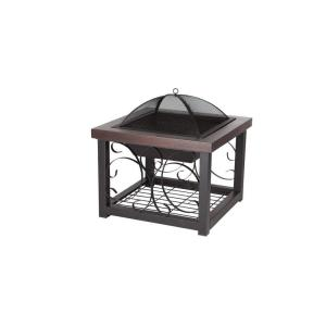 Fire Sense Hammer Tone Bronze Finish Cocktail Table Fire Pit by Fire Sense