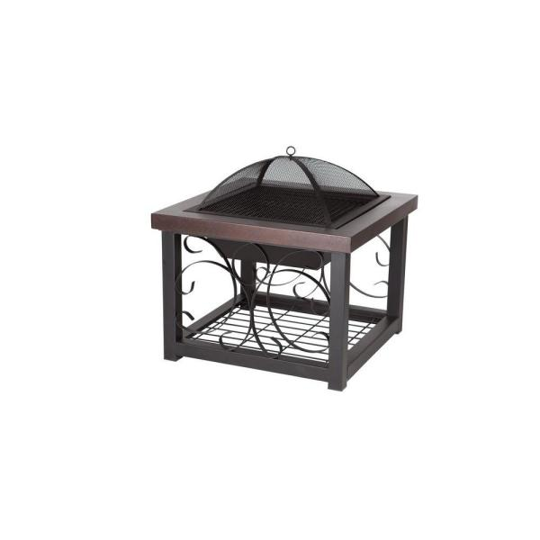 Hammer Tone Bronze Cocktail Table Fire Pit
