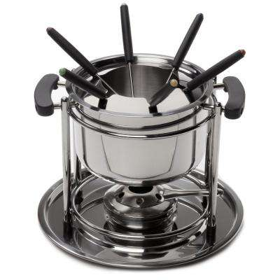 11-Piece Professional Stainless Steel Fondue Set