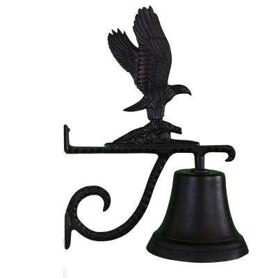 Cast Bell with Black Eagle Ornament