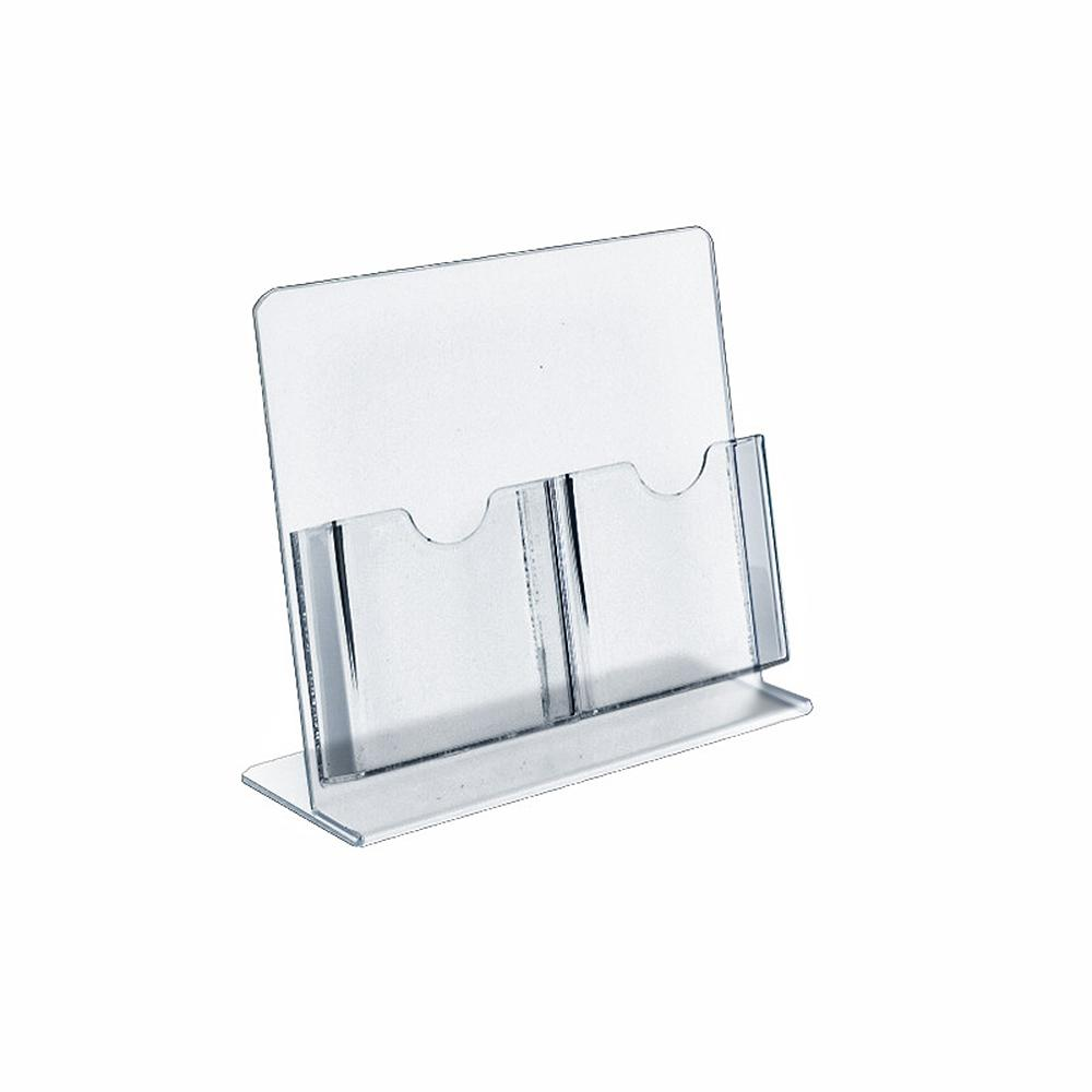 2-Pocket Clear Brochure Holder (2-Pack)