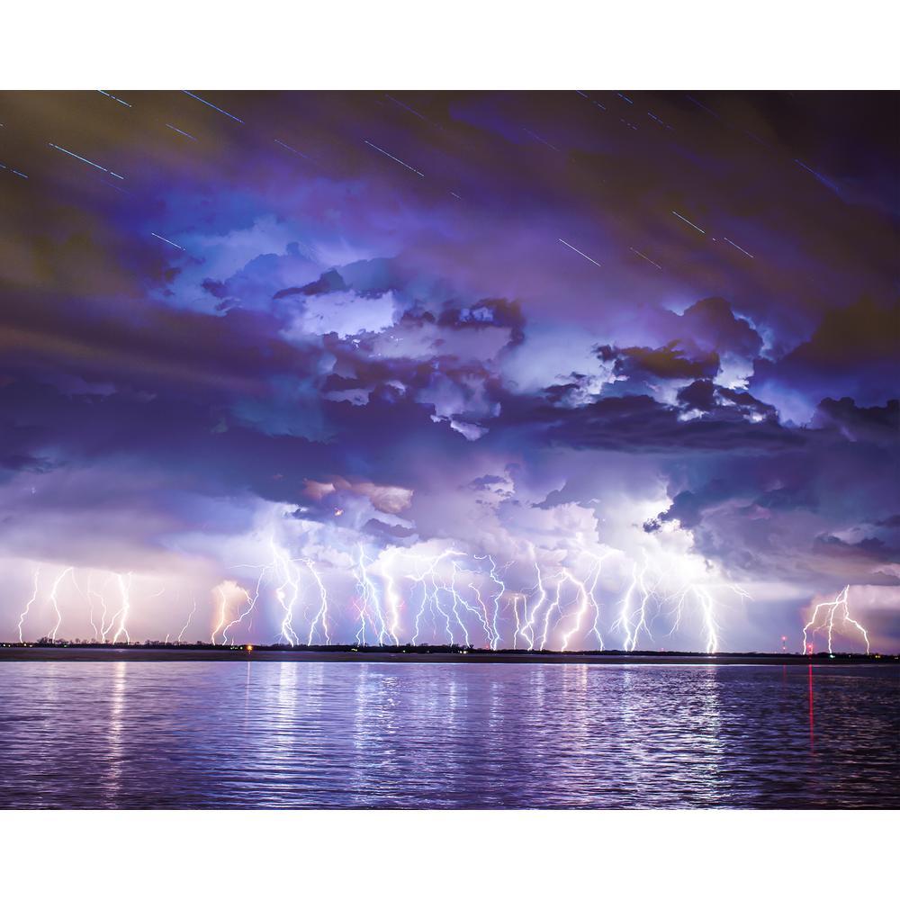 Lightning Strikes Wall Mural