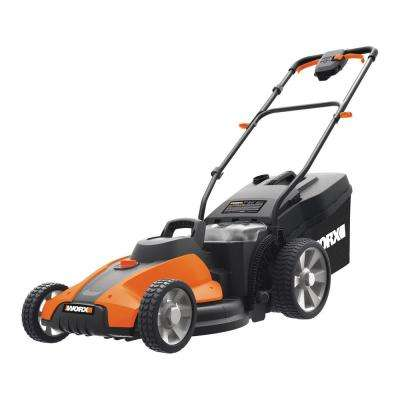 17 in. 4.0 Ah 40-Volt Li-ion Battery Power Share Cordless Walk Behind Push Mower with Mulching (2 x 20-Volt Batteries)