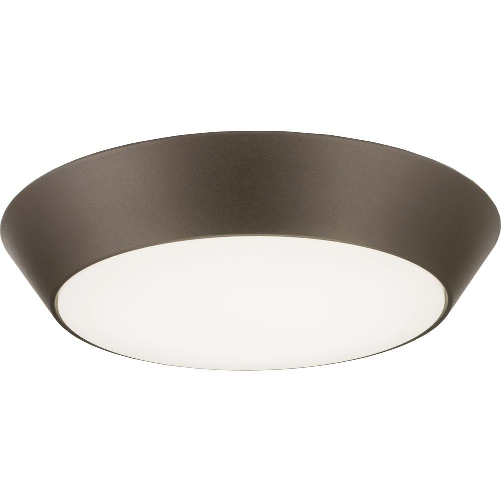 Versi Lite 28-Watt Textured Bronze Integrated LED Flushmount