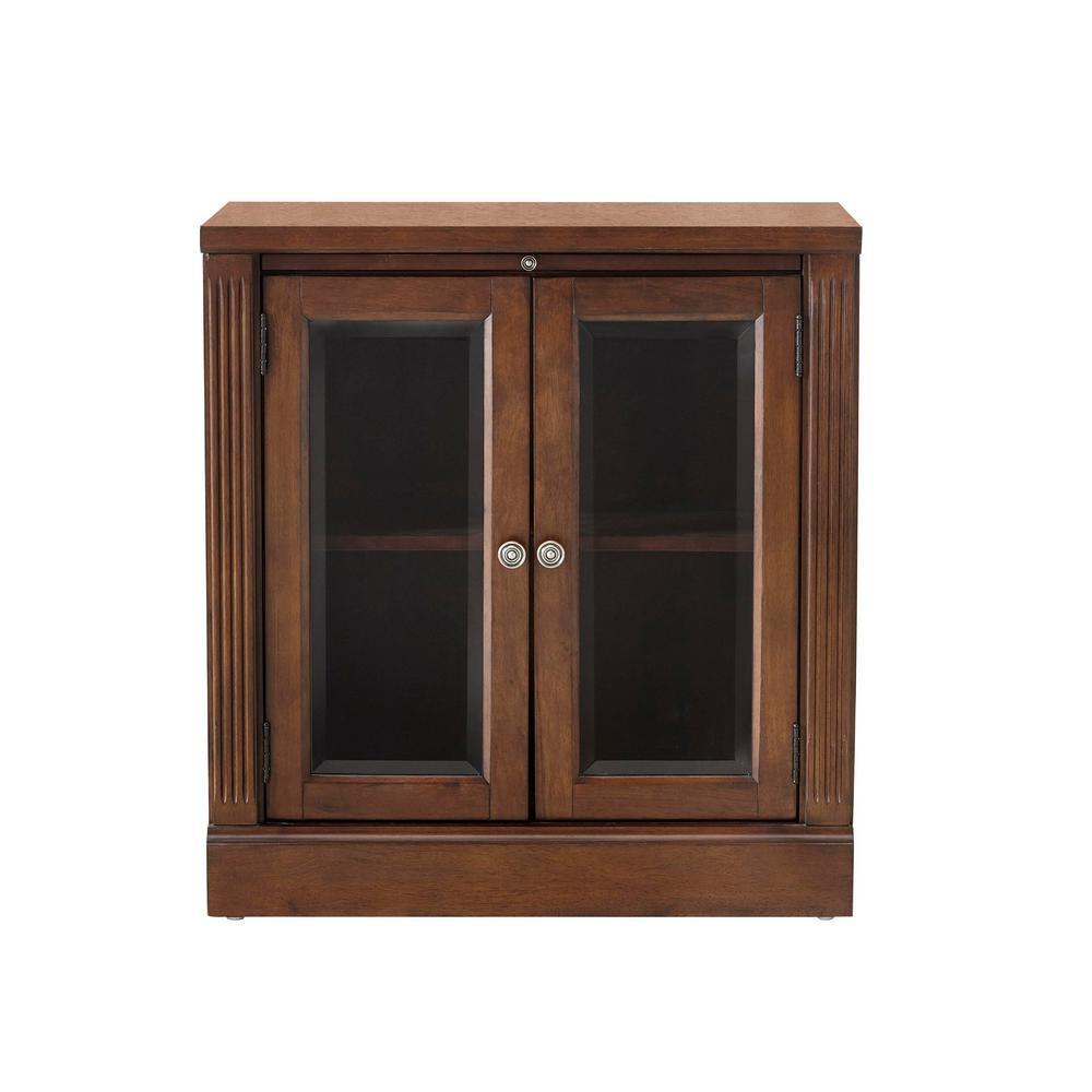 Edinburgh Espresso Storage Glass Door Cabinet