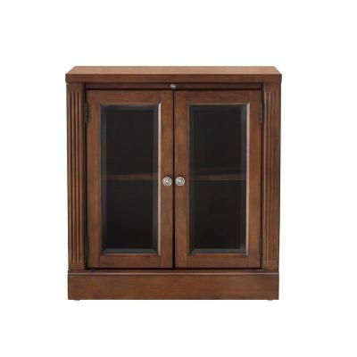 Edinburgh Espresso Storage Glass Door Cabinet