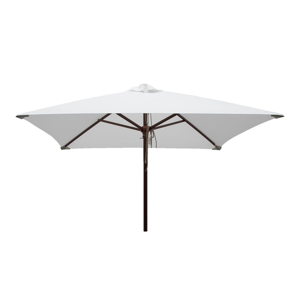 DestinationGear Classic Wood 6.5 Ft. Square Patio Umbrella In Natural  Polyester 1235   The Home Depot