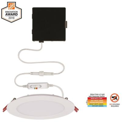 Ultra Slim 6 in. Color Selectable New Construction and Remodel Canless Recessed Integrated LED Kit
