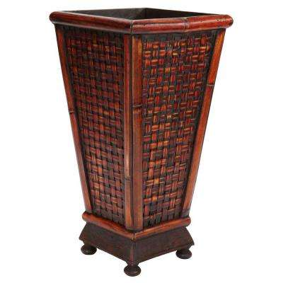 17.5 in. H Burgundy Designer Decorative Planter