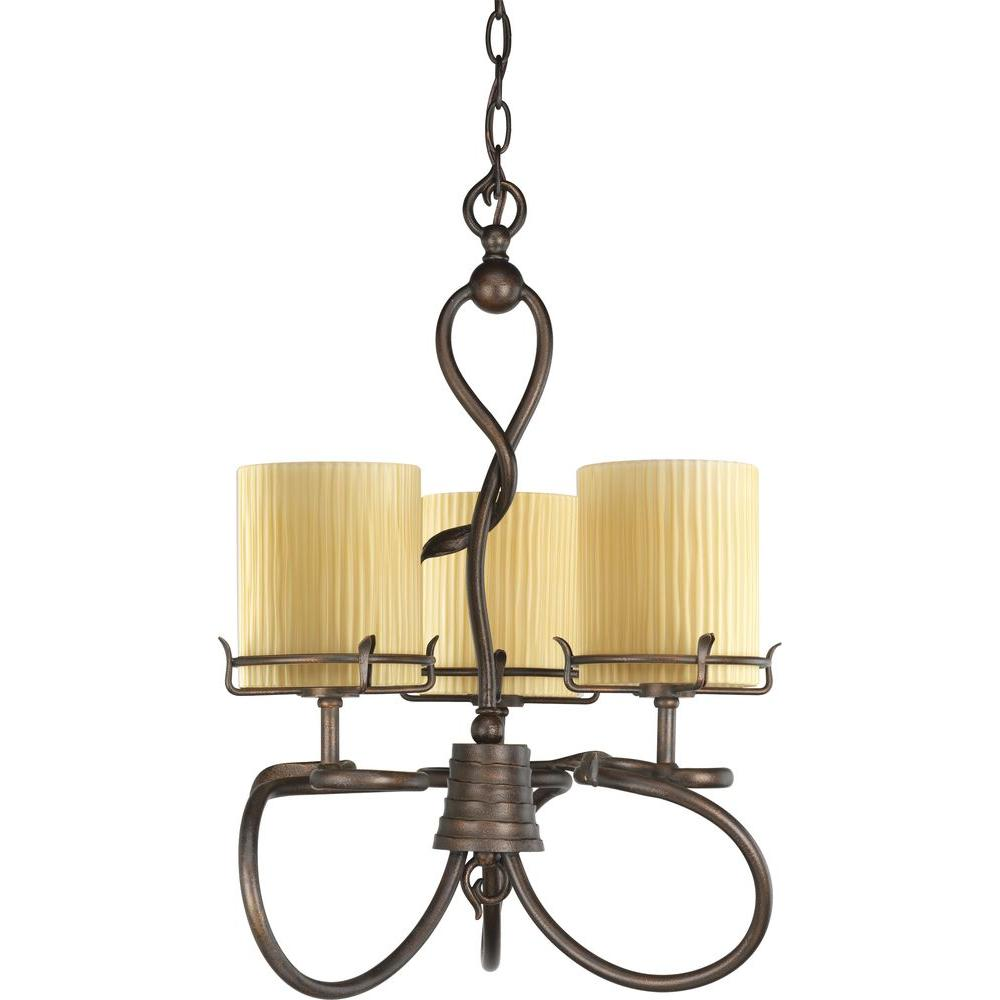 Thomasville Lighting Willow Creek Collection 3-Light Weathered Auburn Chandelier-DISCONTINUED