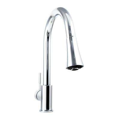 Edison Single-Handle Pull-Down Sprayer Kitchen Faucet in Chrome Finish