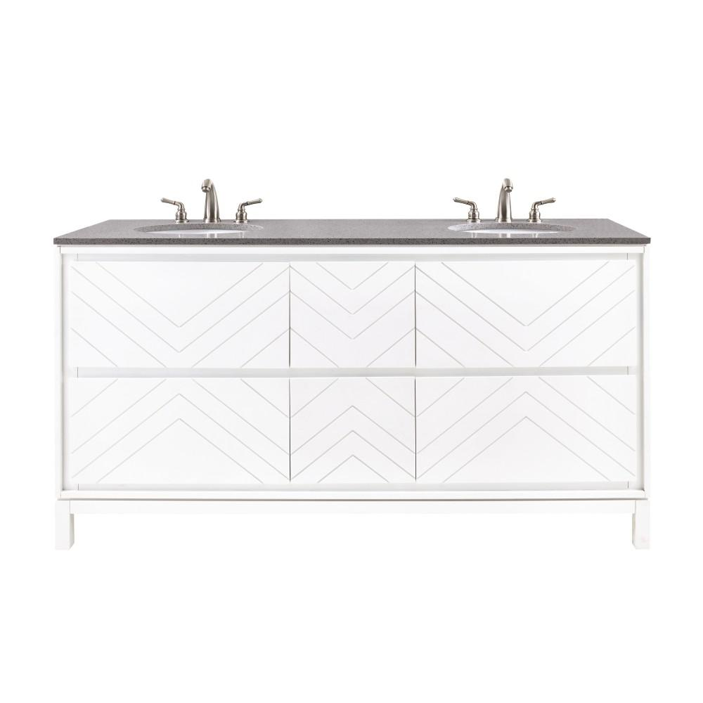 Home Decorators Collection Clemente 67 In W Double Vanity White With Quartz Top