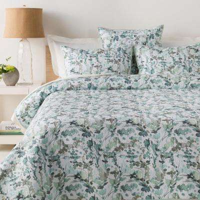 s itm pillowcase palm king reversible bedding cover image set single double is loading green duvet