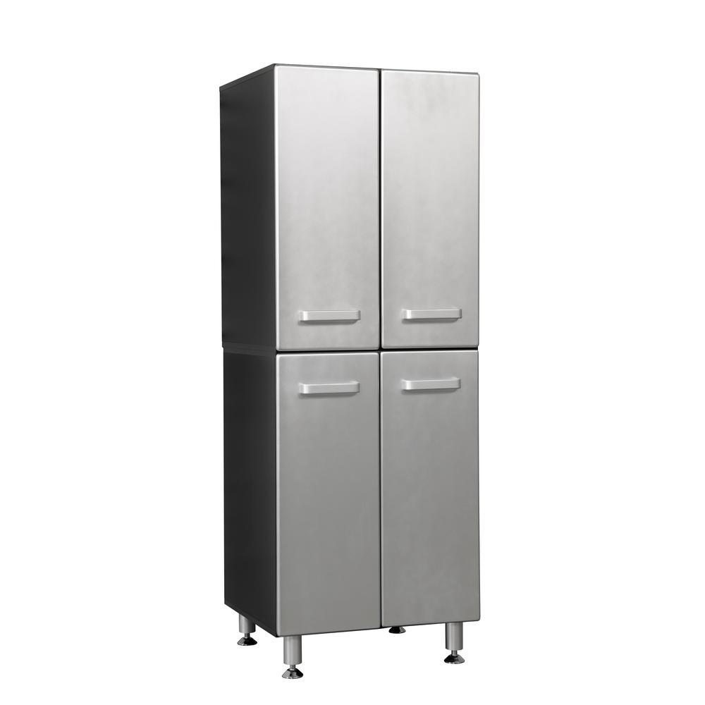 Metallic Series 71 in. h 24 in. W x 21 in. D 4-Door Garage Storage Cabinet Pantry