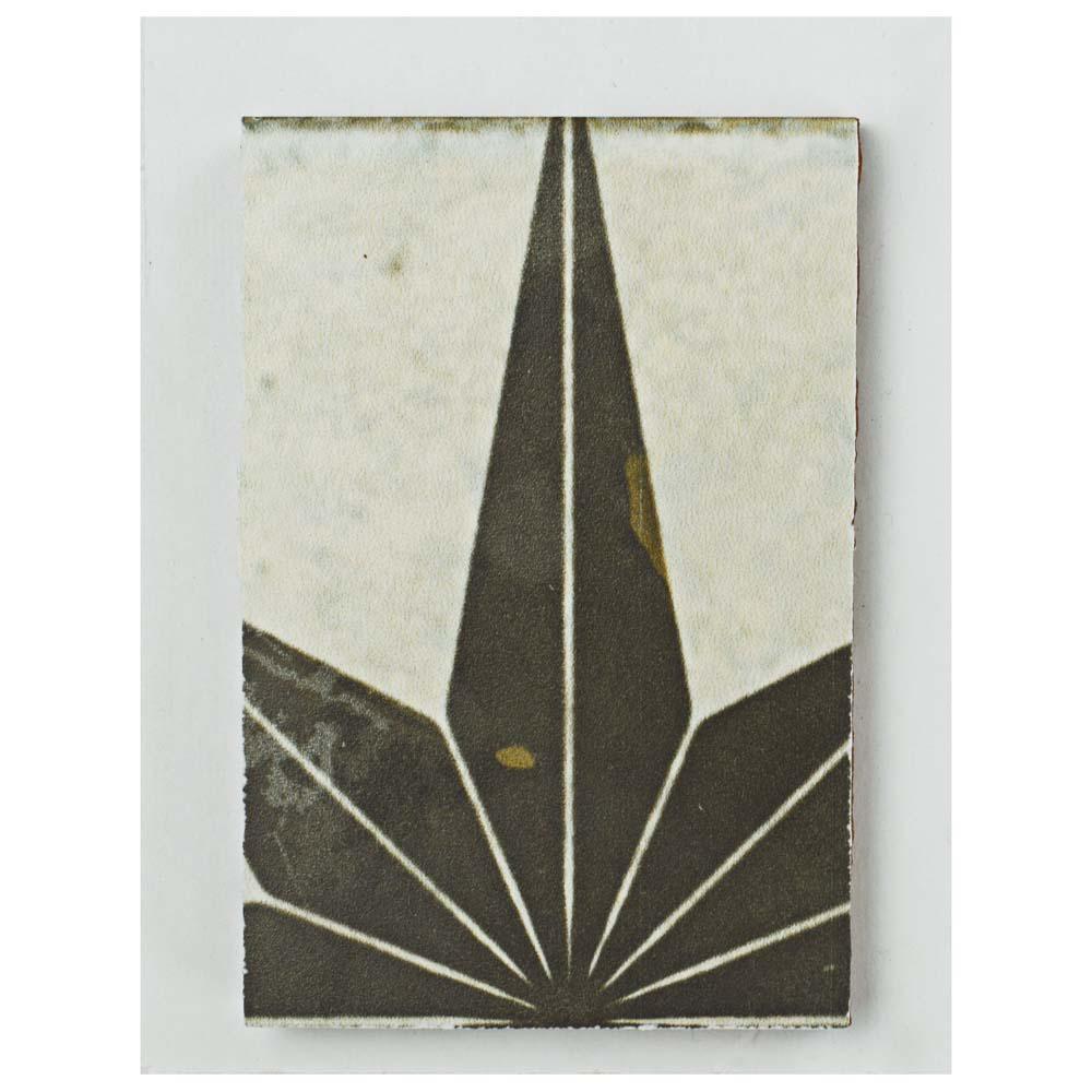 Kings Star Nero Encaustic Ceramic Floor and Wall Tile - 3 in. x 4 in. Tile Sample
