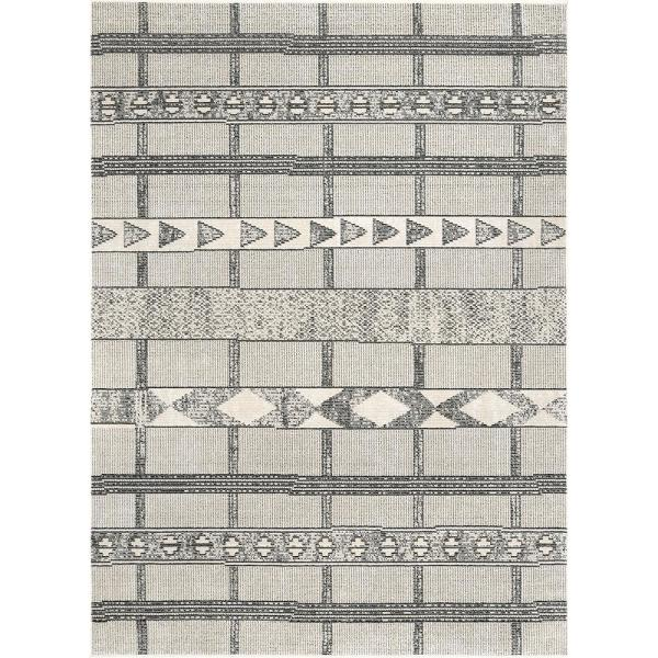 Fabre Tribal Modern Gray 5 ft. x 8 ft. Area Rug