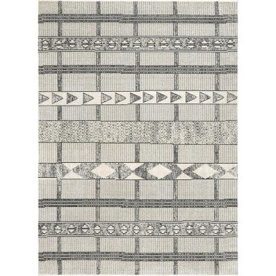 Fabre Tribal Modern Gray 7 ft. x 9 ft. Area Rug