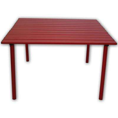 Red Aluminum Square Outdoor Picnic Table with Bag