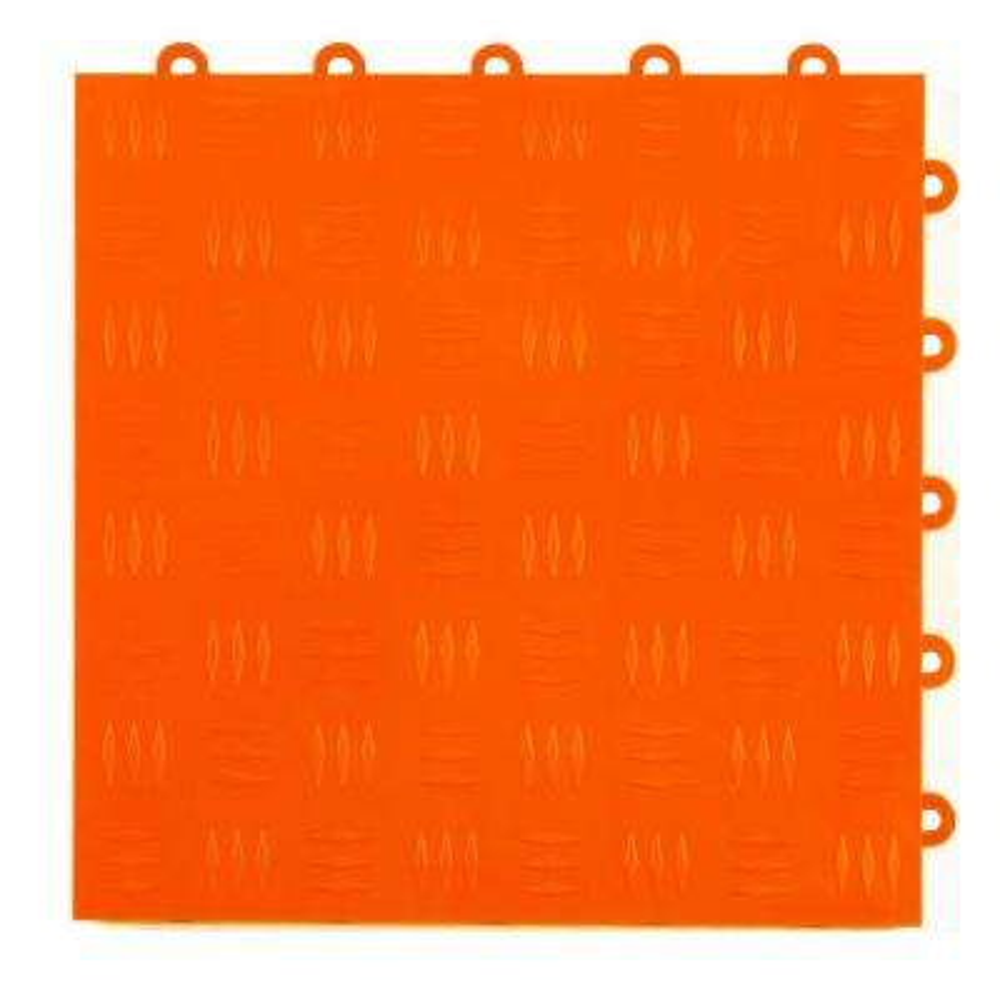 Diamond Top 1 ft. x 1 ft. x 1/2 in. Orange Polypropylene Interlocking Garage Floor Tile (Case of 24)