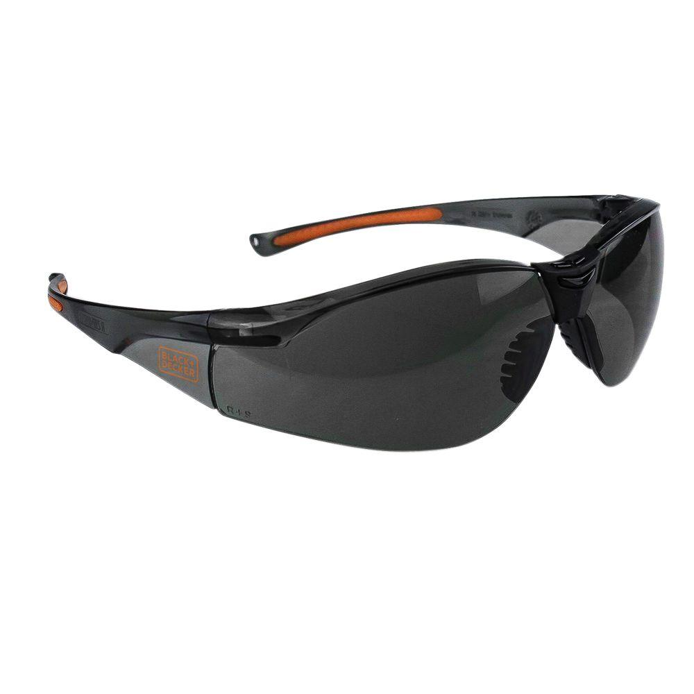 973f4334ce BLACK+DECKER Smoke Lens Lightweight High Performance Safety Glasses ...